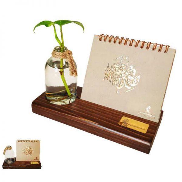 تقویم رومیزی چوبی کد PN003